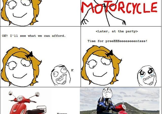 When the wife buys you a 'motorbike'