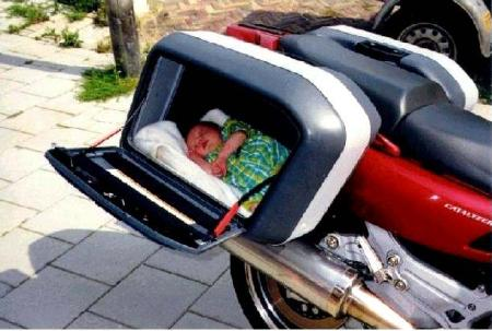When a baby joins the motorcycle family