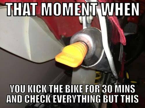 When your motorbike won't start