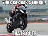 your car has a turbo? that's cute