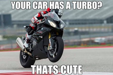 Your car has a turbo? That's cute…
