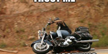 cornering on a motorbike