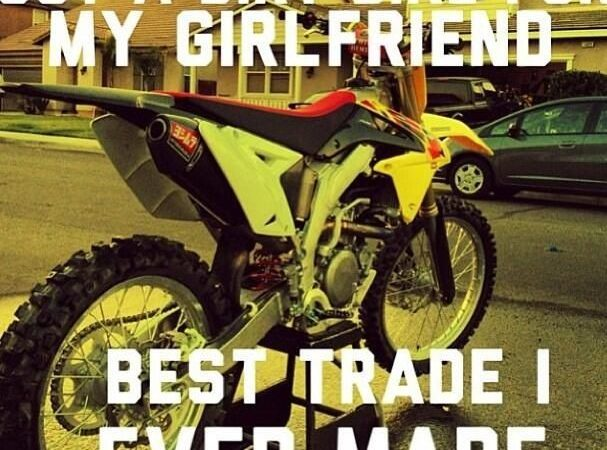 Got a dirt bike for my girlfriend