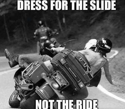 Dress for the slide…