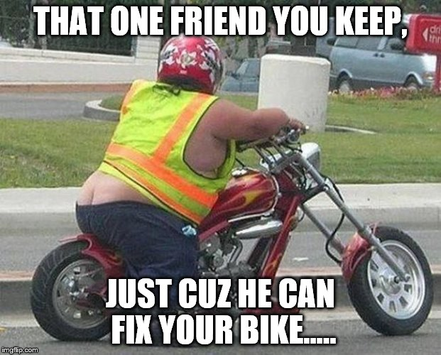 friend can fix motorbike