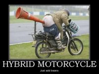 bean powered hybrid motorcycle