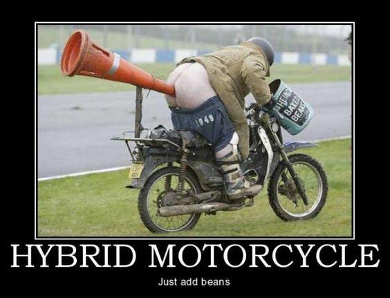 bean powered hybrid motorcycle
