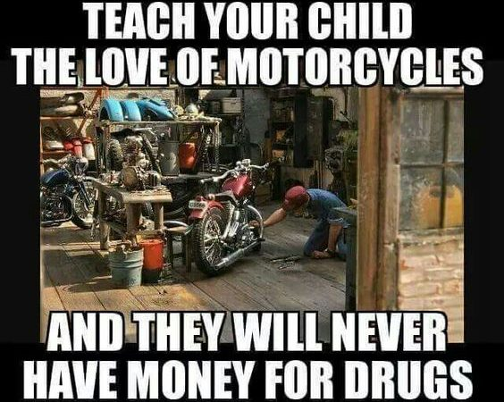 Teach your child the love of motorcycles