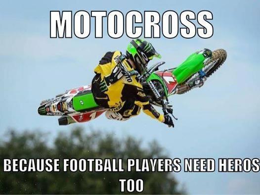 Football players need heroes too!