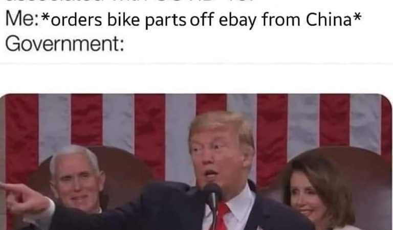 When you order bike parts from China