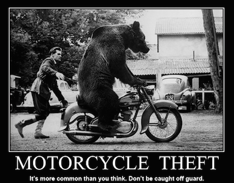 Motorcycle theft warning