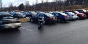 parking a motorcycle correctly