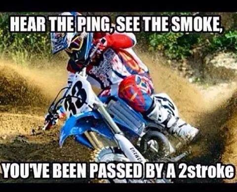 Passed by a 2 Stroke