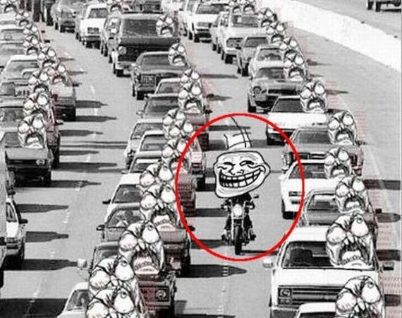 Trolling the traffic