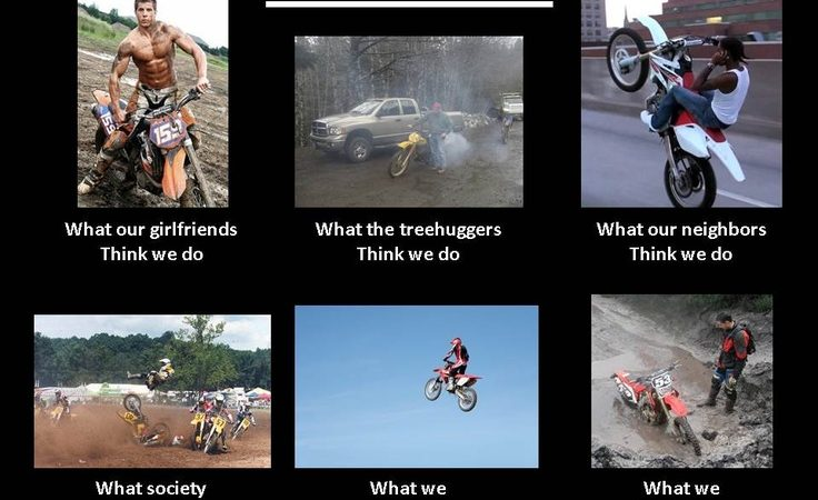 What dirtbikers do